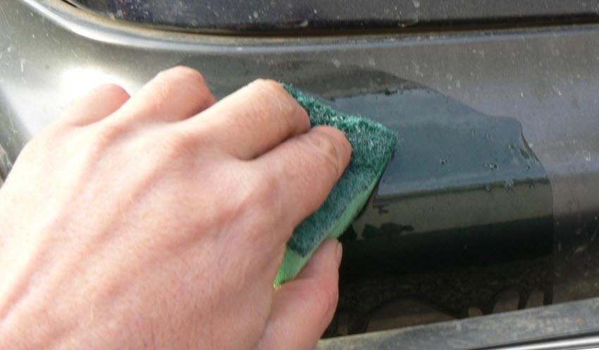 Покраска царапины на бампере своими руками