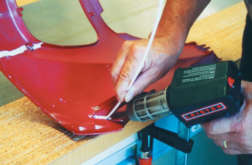 Как запаять трещину на бампере