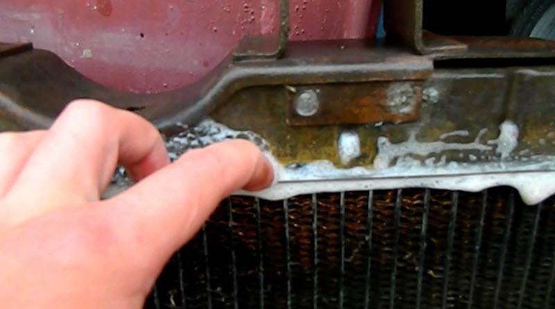 Потёк радиатор охлаждения ОЖ.
