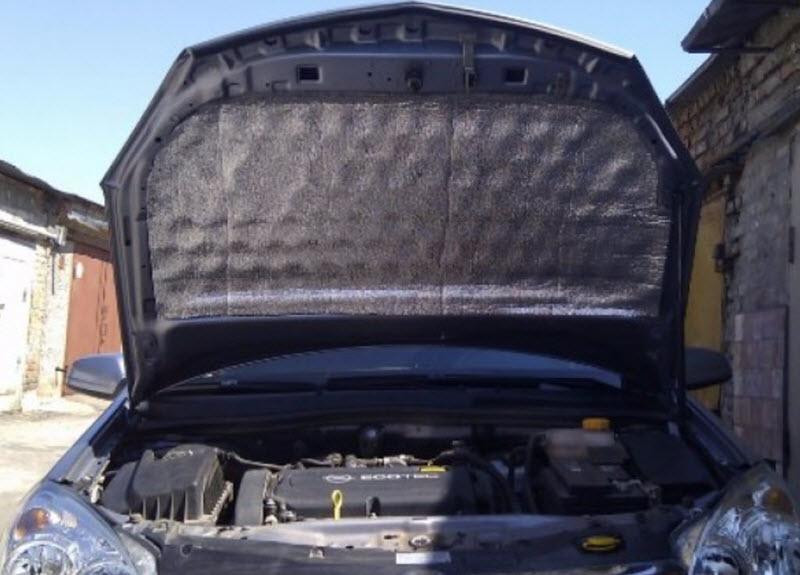 Шумоизоляция двигателя и моторного отсека своими руками