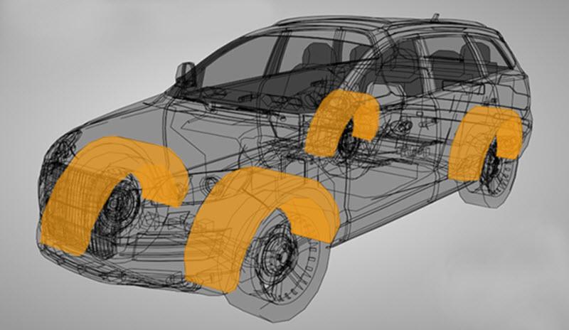 Как сделать шумоизоляцию арок автомобиля снаружи и внутри